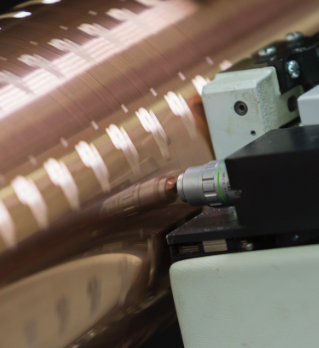 Gravure cylinder - Quotation marks on the right - Graphische Technik und Handel Heimann GmbH, Pferdekamp 9, D-59075 Hamm